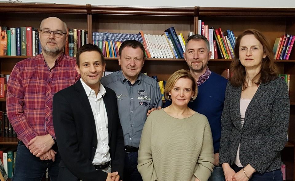 v.l.n.r.: Christian Förster, Dr. Daniel Rosentreter, Harry Heller, Petra Müllenbach, Erik Nickel, Karla Wulff